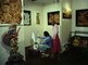 Bambang Oetoro demonstrates batik art in first batik gallery